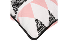 Load image into Gallery viewer, CUSHION COVER RECTANGLE TRIANGE PINK  WHITE