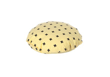 Load image into Gallery viewer, CUSHION COVER ROUND CROSS YELLOW BLACK