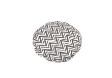 Load image into Gallery viewer, CUSHION COVER ROUND CHEVERON BLACK WHITE