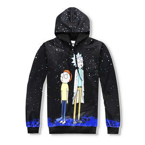 Rick and Morty Alien Hoodies [ Pullover Type ] - MVNIKHUB