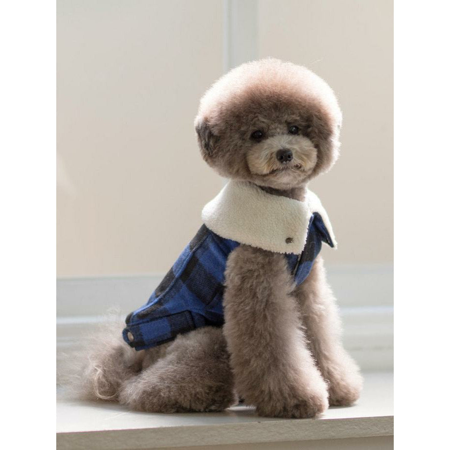 Fake Fur Collar Dog Jacket