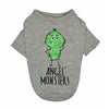 Angel Monster Long Sleeves Dog T-shirt Grey
