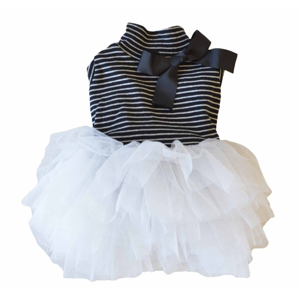 Stripe Tutu Dress Black/White