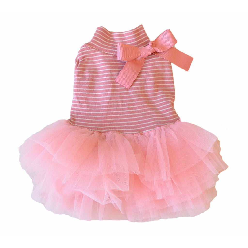 Stripe Tutu Dress Pink