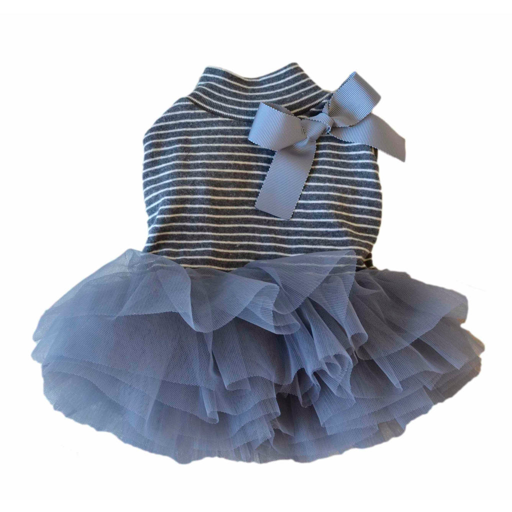 Stripe Tutu Dress Grey