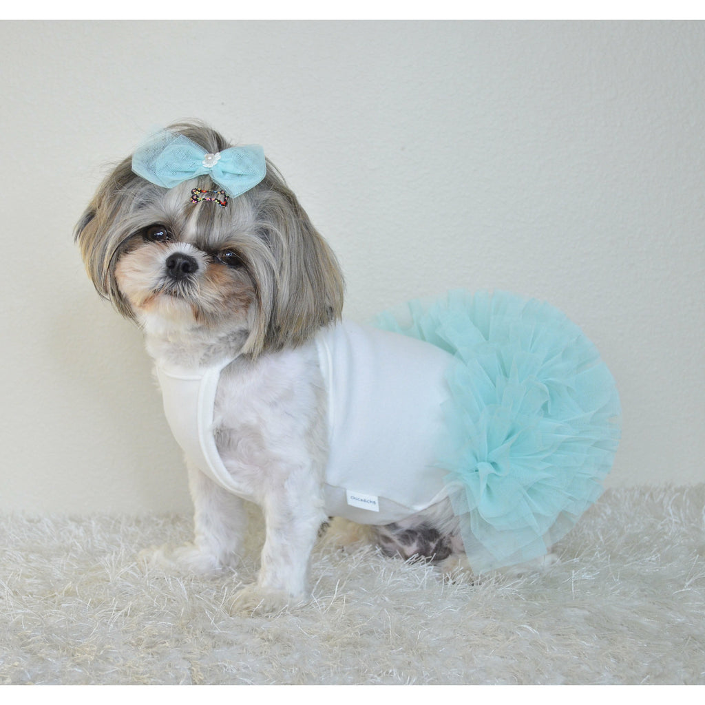 Shower Ball Tutu Dress Sky Blue