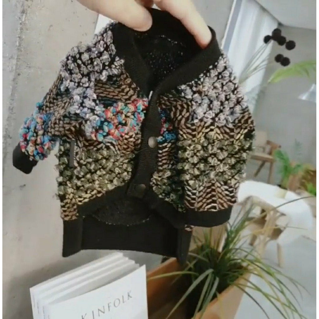 Bubbly Hippie Cardigan Black