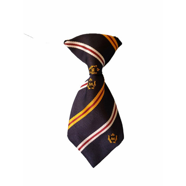 Dark Royal Blue Striped Necktie
