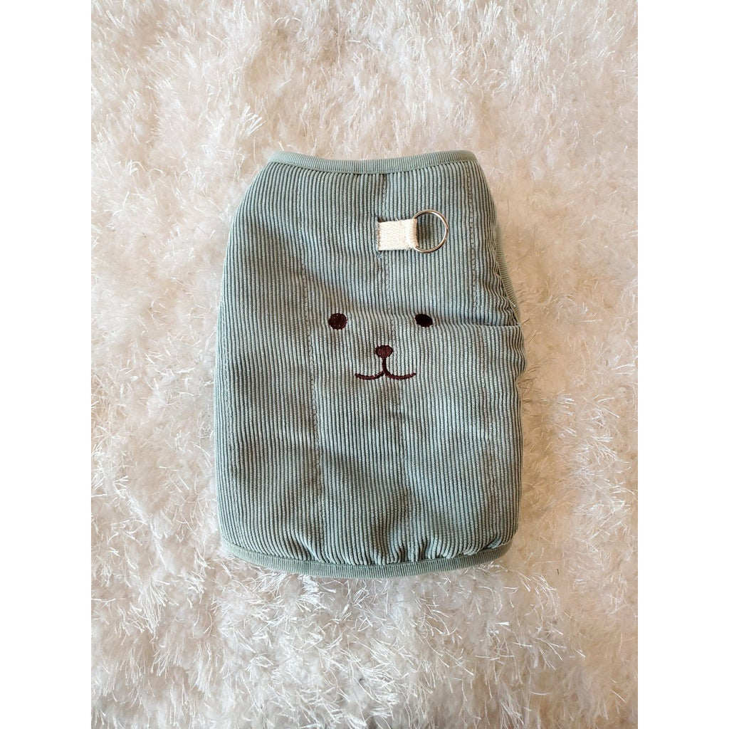 Bear Padding Vest - Mint