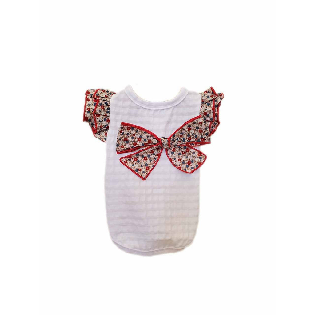 Blossom Bow Tee Red