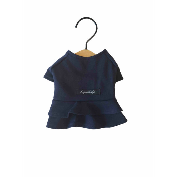 Solid Color Dress Navy