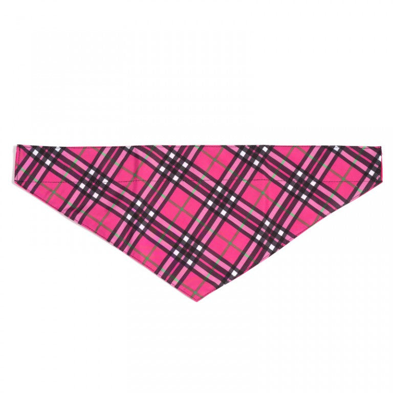 Bias Plaid Hot Pink Dog Bandana