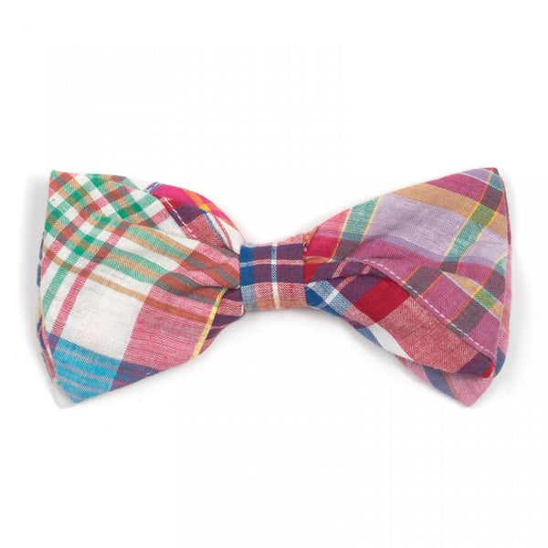 Bright Patch Madras Dog Bow Tie
