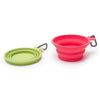 Collapsible Dog Water Bowl Red