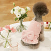 Faux Mink Fur Ribbon Dress Pink
