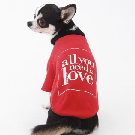 Love Dog T-shirt Red