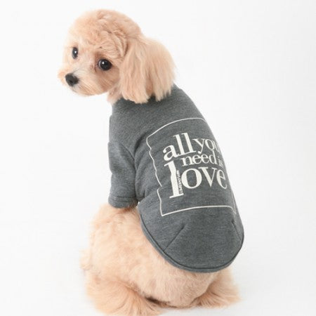 Love Dog T-shirt Grey