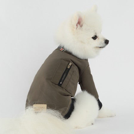 X Air Bomber Dog Jacket Khaki