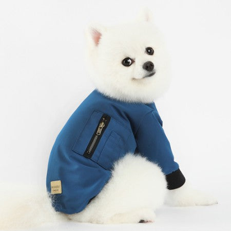 X Air Bomber Dog Jacket Blue