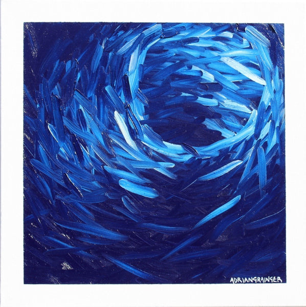 Vortex - Deep blue - Adrian Grainger -  Modern Contemporary Artist