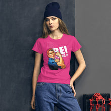 Load image into Gallery viewer, Be Strong Rosie Fashion Fit T-Shirt with Tear Away Label