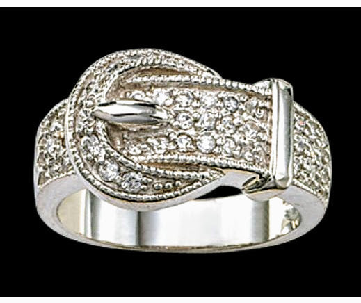 Belt Buckle Ladies Ring