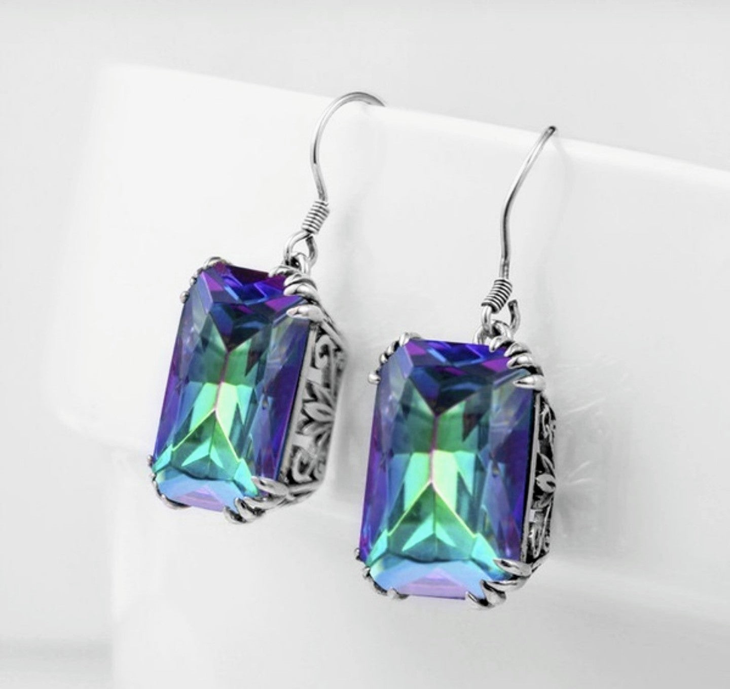 Mystic Rainbow Topaz Jewelry Set