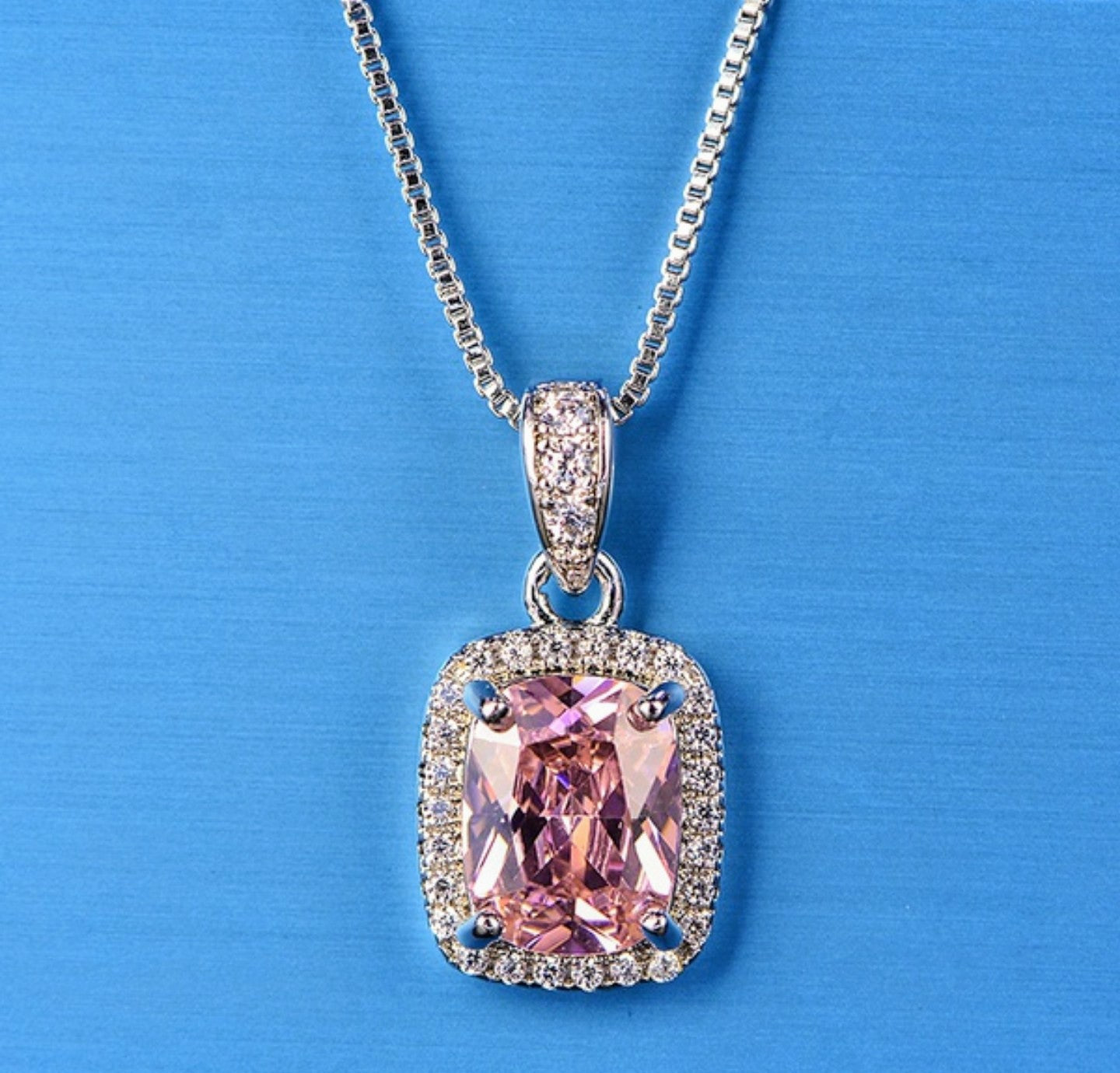 Blue/Pink Sapphire Necklace