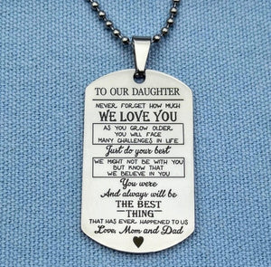 My Son/Daughter Dog tag Necklaces