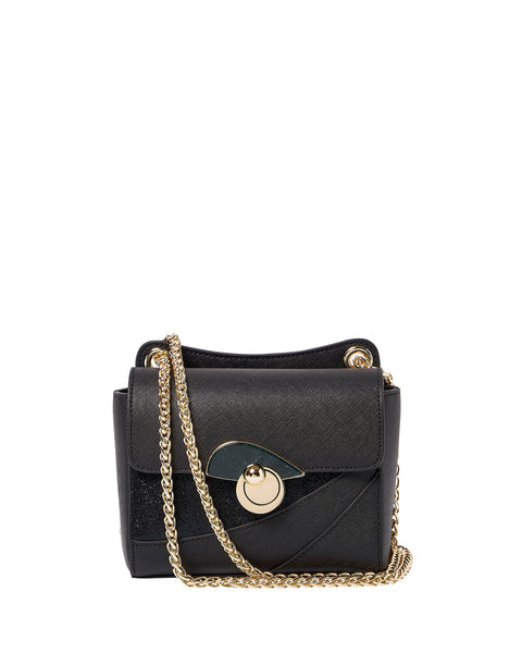 Caribe Chain Strap Shoulder Bag <span>Black</span>