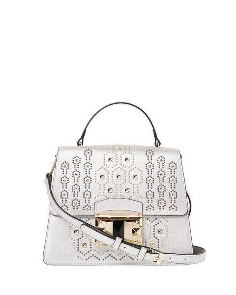 IT Punky Studded Top Handle Bag <span>Platinum</span>