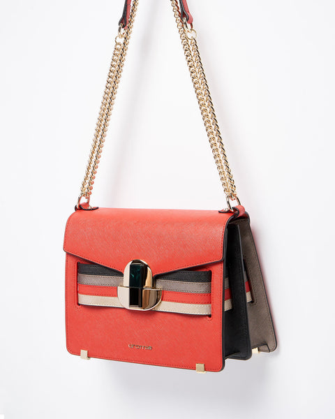 Maeva Chain Strap Shoulder Bag <span>Red</span>
