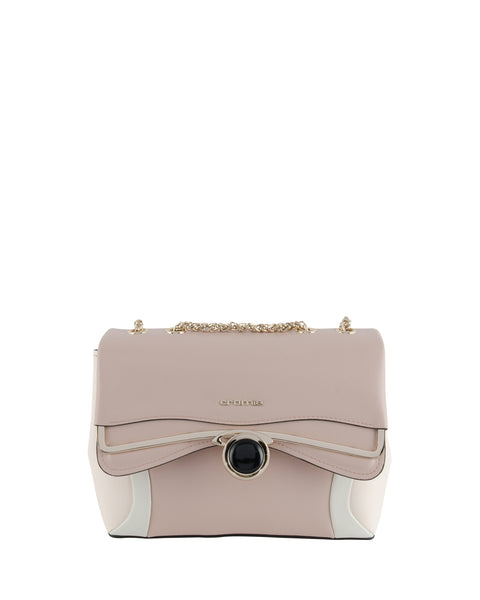 IBIS Chain Strap Shoulder Bag <span>Rose/Ivory/Beige</span>