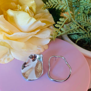 Silver Hoop and Full Circle Fashion Earrings
