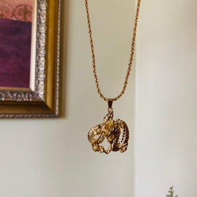 SP Gold Filled Dragon Necklace
