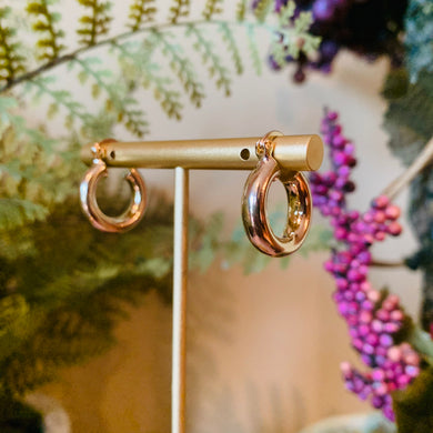 Gold Plated Small Chubby Hoop Earrings