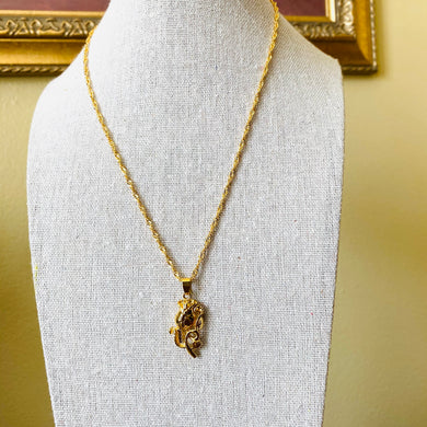 SP Gold Filled Flower with Twisted Necklace