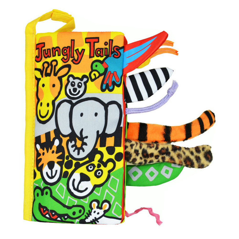 Jungly Tails Texture Sensory Touch Cloth Book
