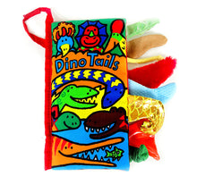 Dino Tails Texture Sensory Touch Cloth Book