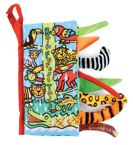 Rainforest Tails Texture Sensory Touch Cloth Book