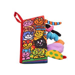 Kitty Tails Texture Sensory Touch Cloth Book