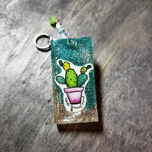 Cactus - Give yourself Time Keychain