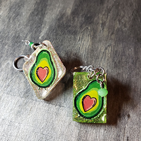 Avocado Love Keychain