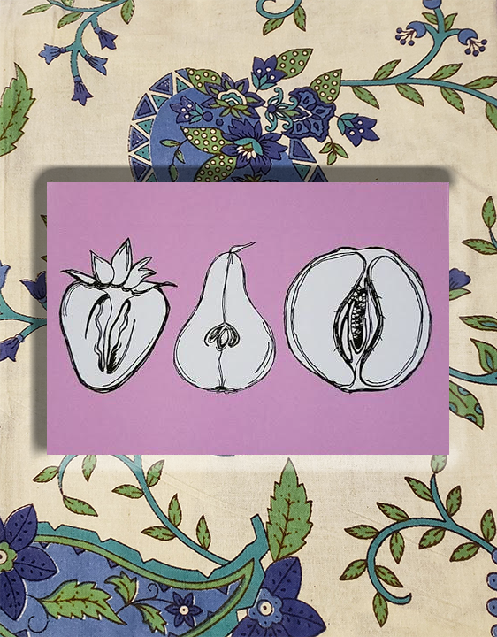 Erotic Fruit Postcard