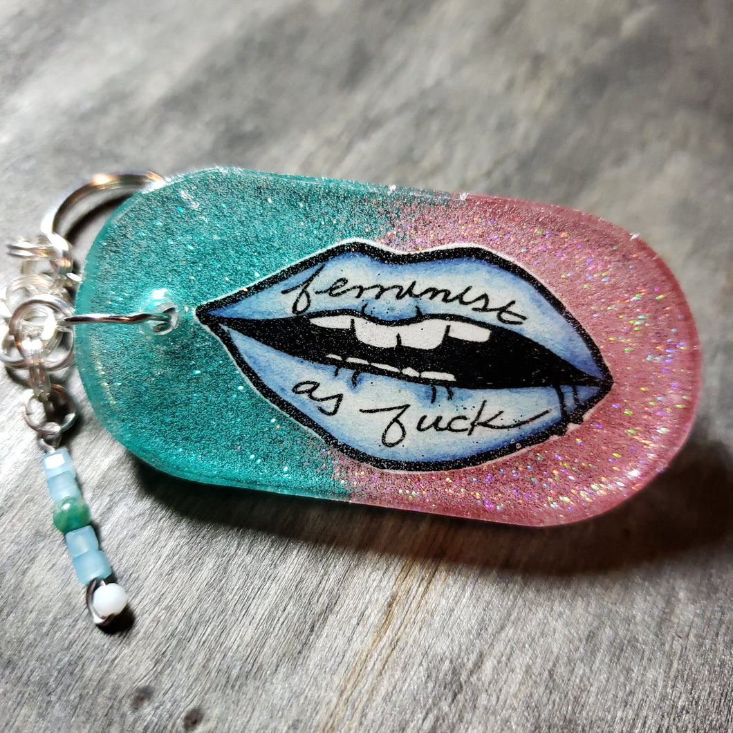 Feminist as F*ck - Key Chain