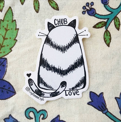 Chub Love Cat Sticker