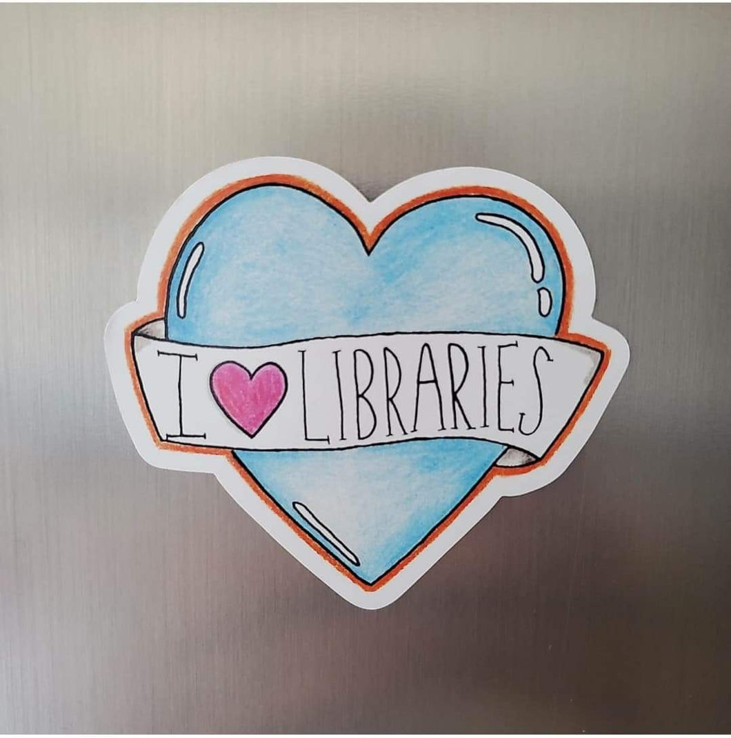 I love libraries - Magnet