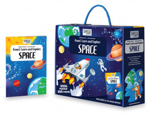 Sassi Travel Learn and Explore Space Puzzle and Book Set