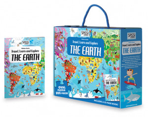 Sassi The Earth 205 Piece Puzzle & Book
