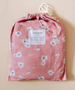 Snuggle Hunny Kids Fitted Cot Sheet Daisy